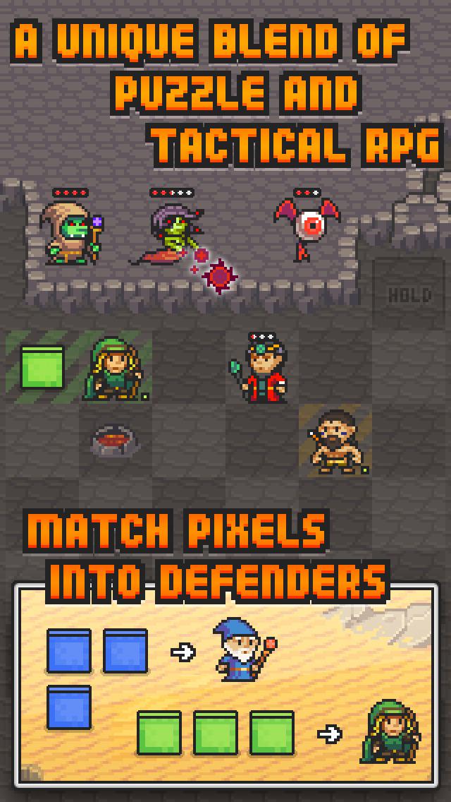 Pixel Defenders Puzzle screenshot 2