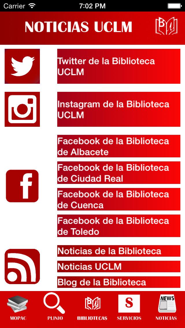Biblioteca UCLM Universidad de Castilla La Mancha screenshot 3