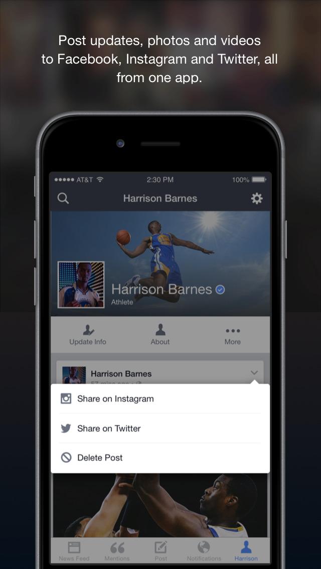 Facebook Mentions screenshot 5