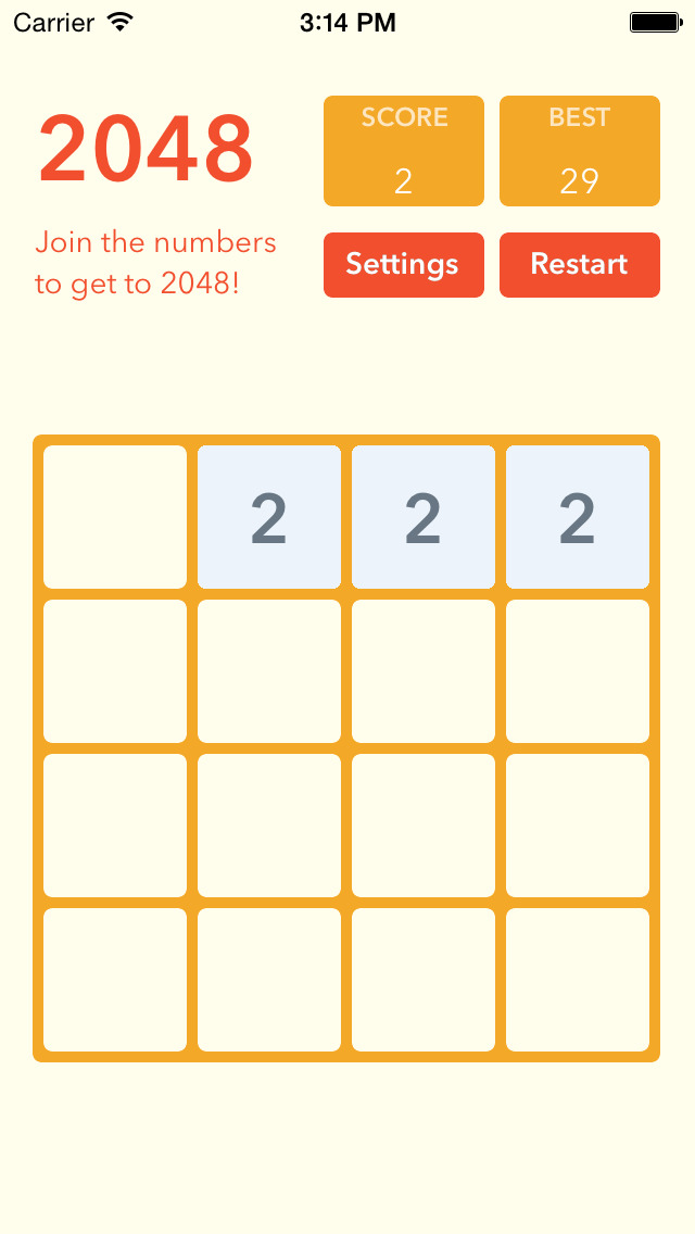 2048 number game - puzzle games screenshot 1
