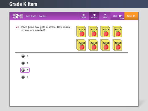 Math Inventory screenshot 3