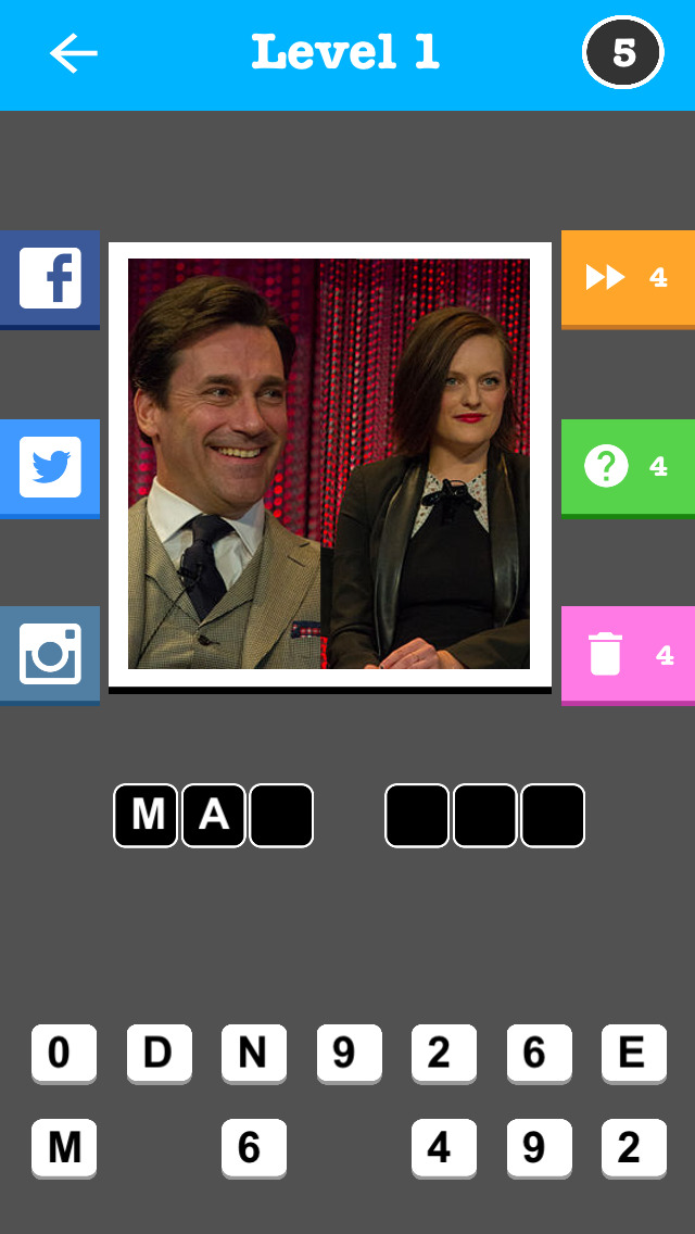 2 Actors 1 TV Show Trivia Game screenshot 1