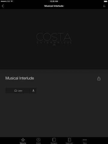 Costa Ent Employee App screenshot 8
