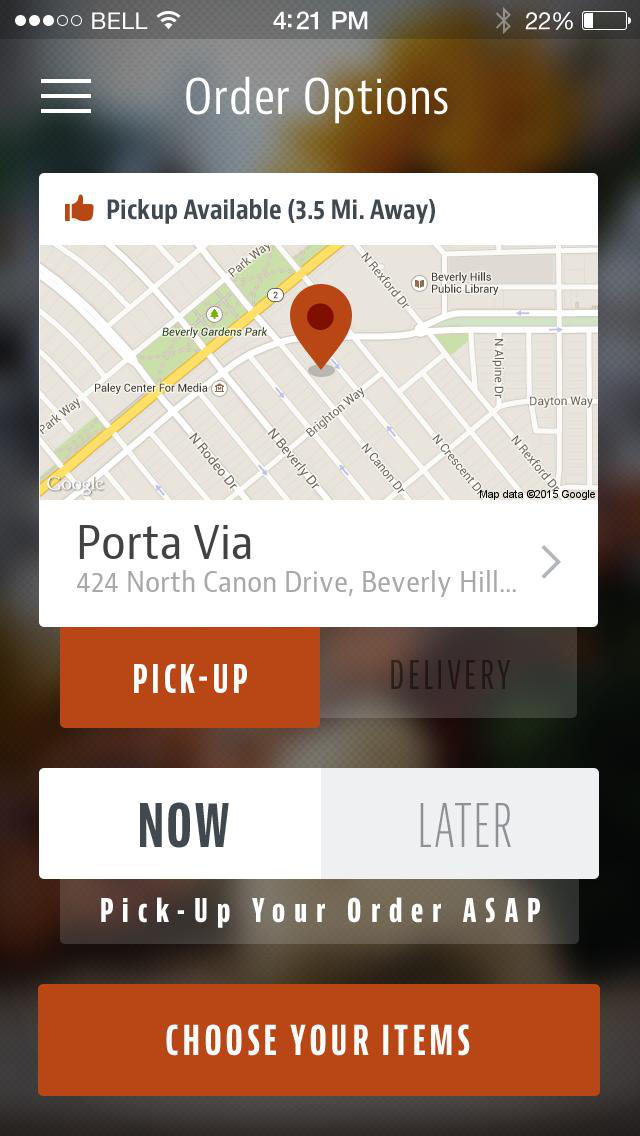 Porta Via Bistro screenshot 2
