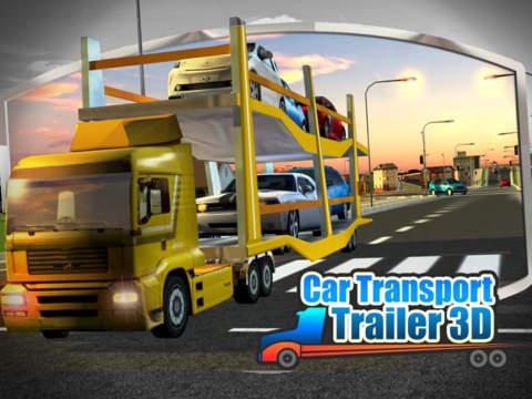 Car Transport Trailer 3D screenshot 5