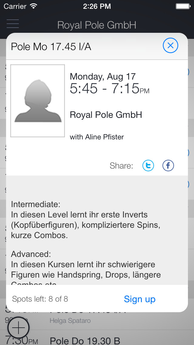 Royal Pole Bern screenshot 2