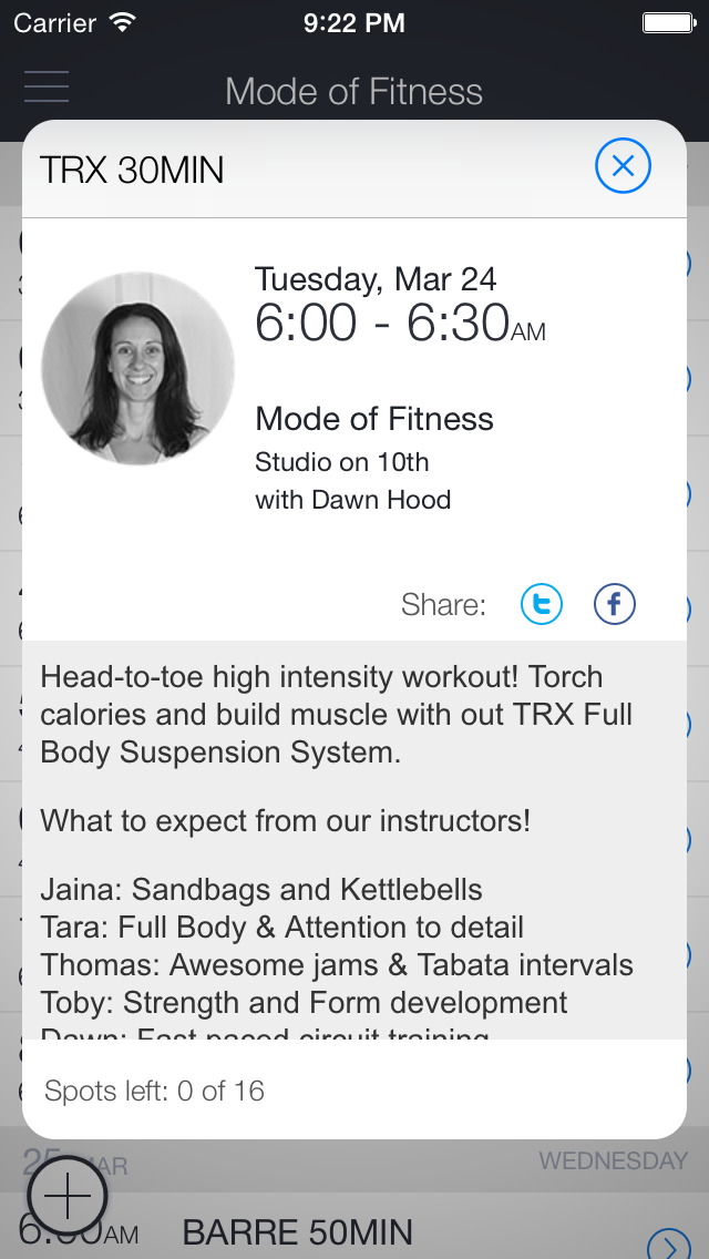 Mode of Fitness Seattle screenshot 2