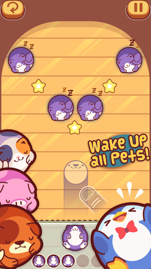 Pet Bowling - Flick & Sliding Puzzle of Virtual Animals for Kids screenshot #2