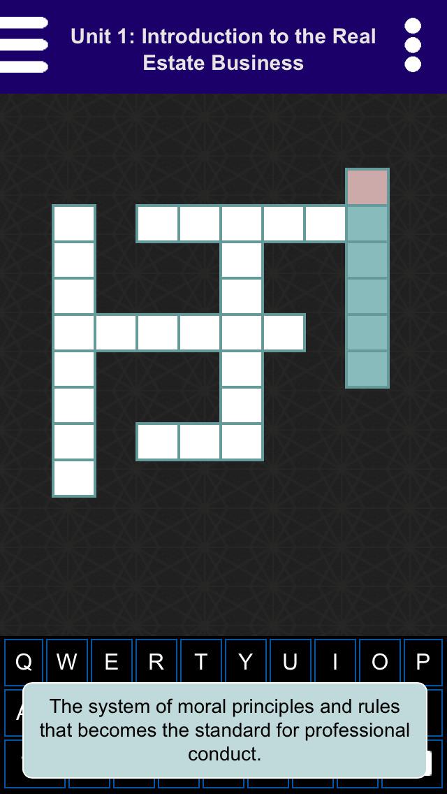 Kaplan Real Estate Crossword Puzzles screenshot 2