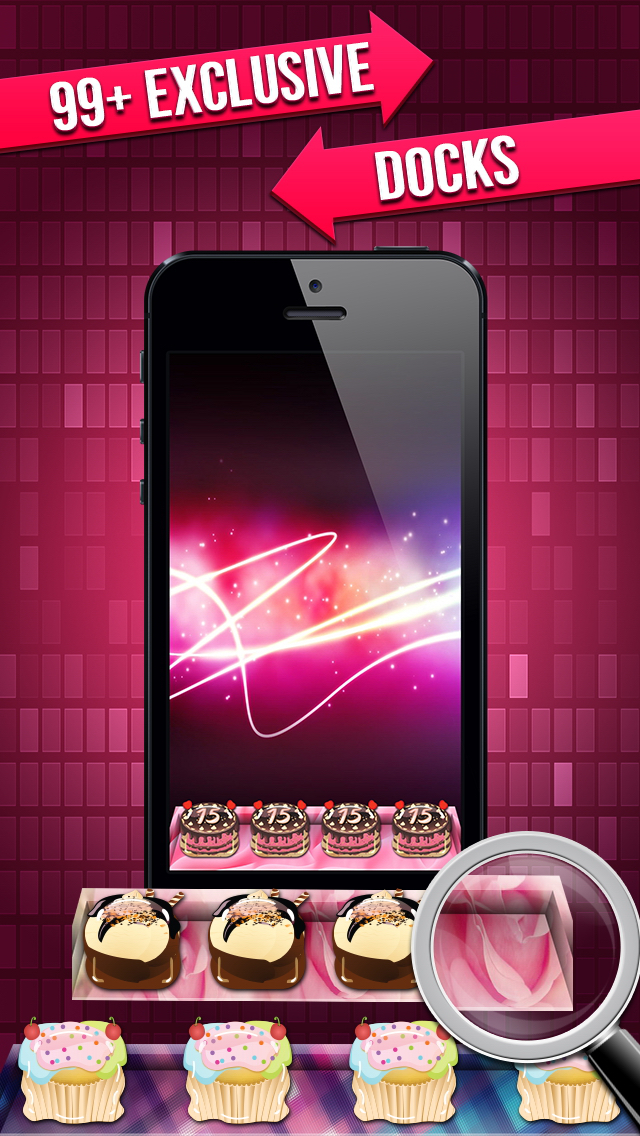 Pink Icon Skins Maker & Home Screen Wallpapers for iPhone, iPad & iPod screenshot 4
