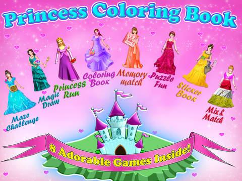 Little Princess Coloring Book! screenshot 6