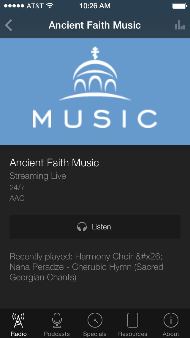 Ancient Faith Radio App screenshot 3