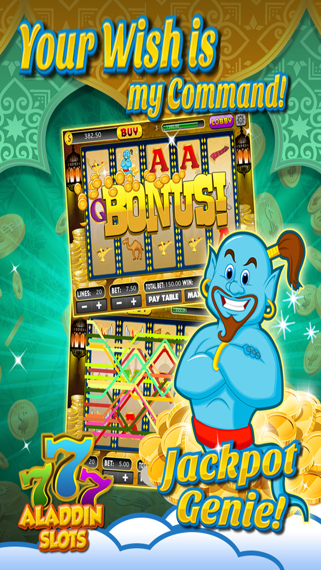 Ace Arabian Casino Slots - Magic Genie Jackpot Big Win Adventure Slot Machine Game HD screenshot 2