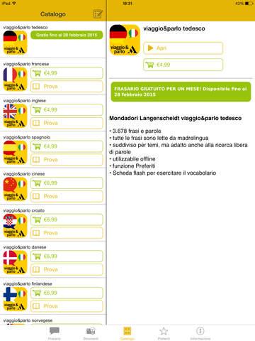 viaggio&parlo – Mondadori Langenscheidt frasario multilingue con audio screenshot 6
