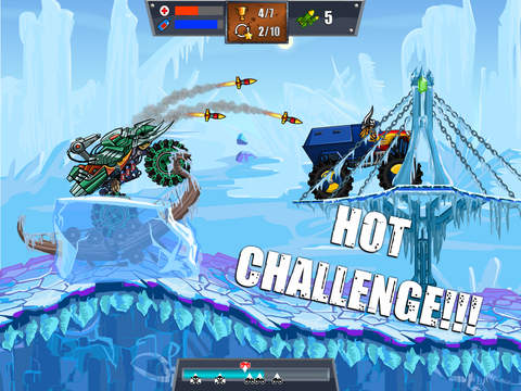 Mad Truck Challenge - Destroy cars and perform extreme stunts in this hill climb racing game screenshot 5