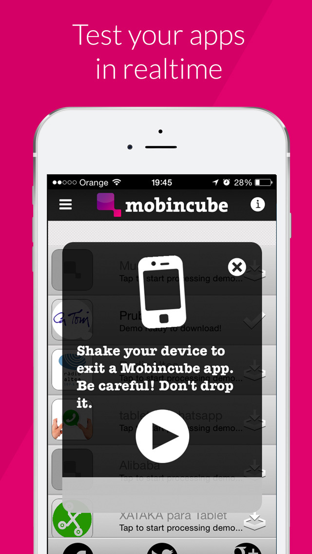 Mobincube - AppsBuilder Preview screenshot 4