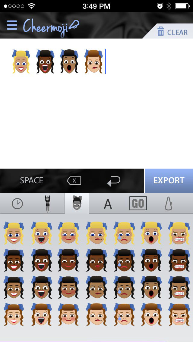 Cheermoji - cheerleading emojis for cheerleaders to build tiny cheer stunts screenshot 2