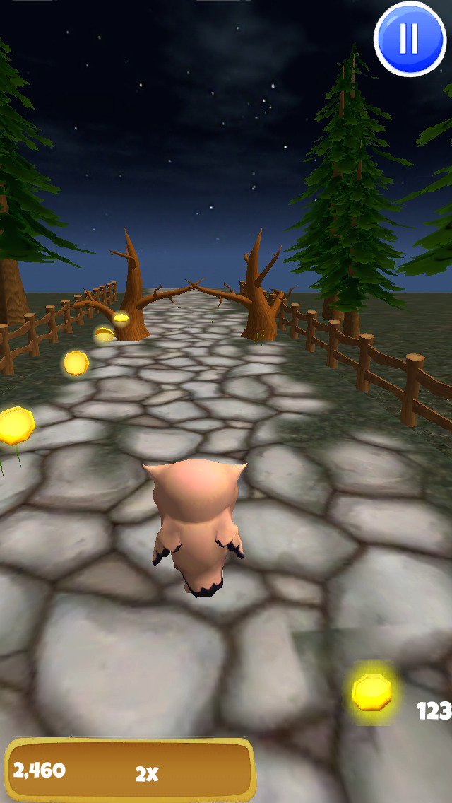 A Owl Run: 3D Bird Running Game - FREE Edition screenshot 2