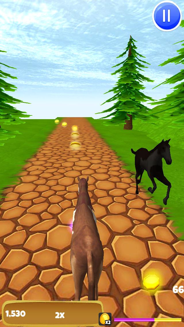 Horse Ride: Wild Trail Run & Jump Game - Pro Edition screenshot 4
