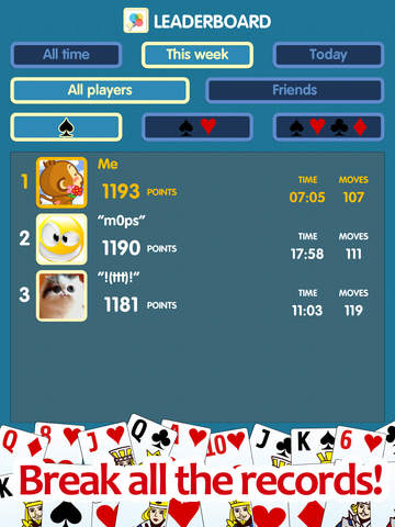 Spider solitaire - classic popular game screenshot 9