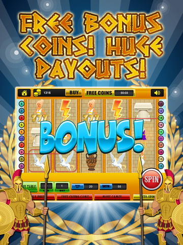 Ace Classic Slots Zeus Way - Age Of Titans Slot Machine Games Free screenshot 8