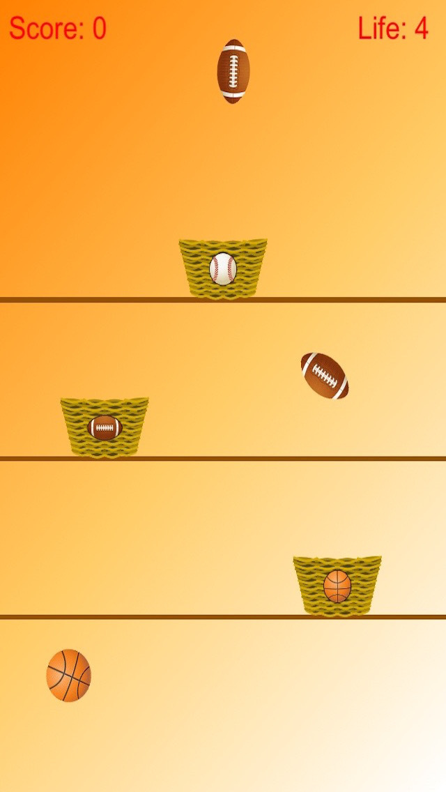 Ball Collect - Separate Baseball, Basketball And Football Free screenshot 2
