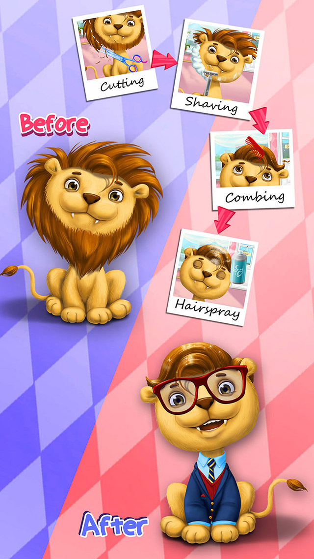 Animal Hair Salon, Dress Up and Pet Style Makeover - No Ads screenshot 4