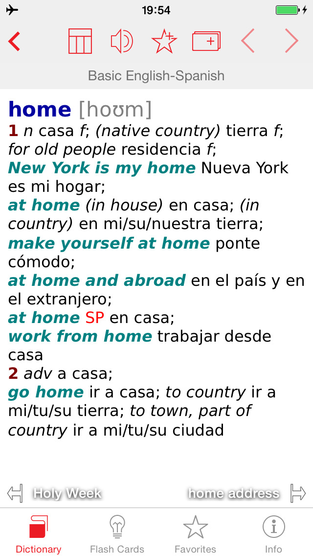 Spanish - English Berlitz Basic Talking Dictionary screenshot 1