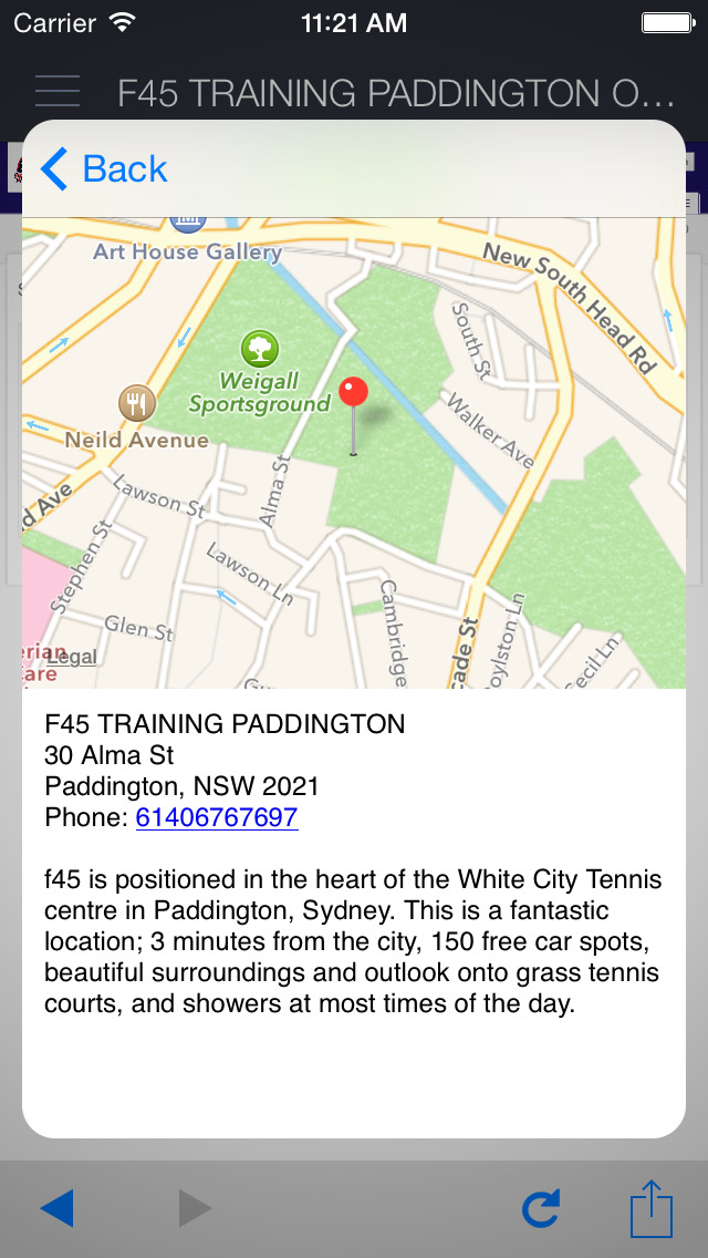 F45 Training Paddington screenshot 4