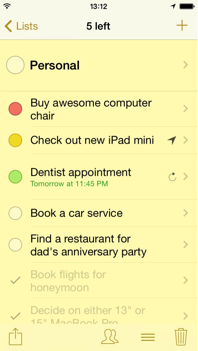 Pocket Lists – Checklists & Reminders screenshot 1