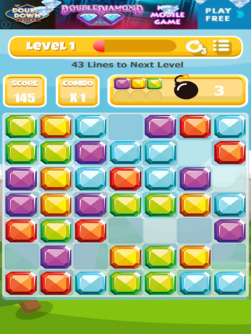 A Gem Mine: Jewel Match Line Puzzle - FREE Edition screenshot 9