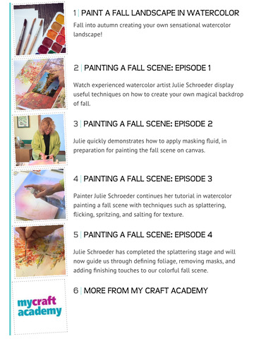 Paint a Fall Landscape in Watercolor screenshot 7