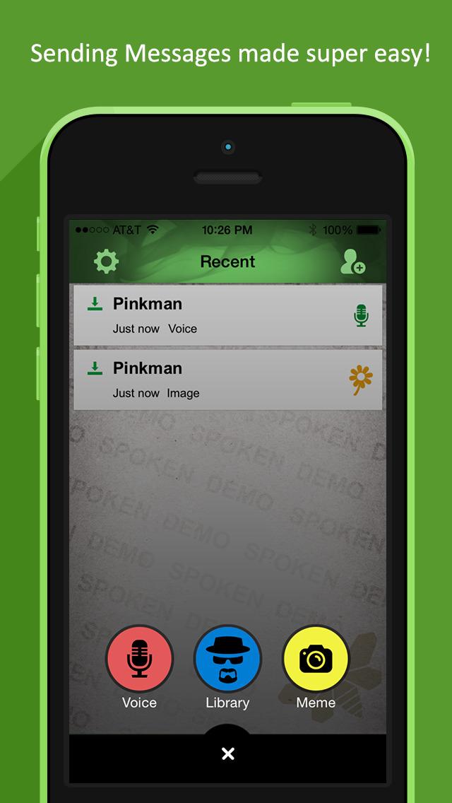 Spoken Messenger - Breaking Bad Edition screenshot 3