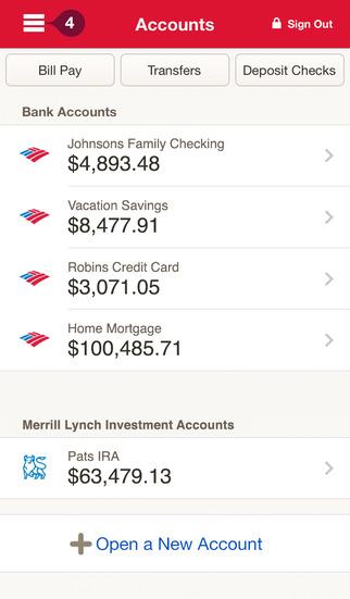 Bank of America Mobile Banking screenshot #2