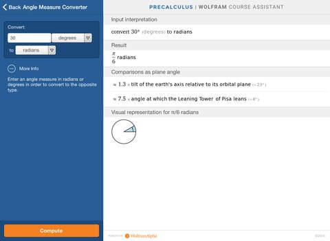 Wolfram Precalculus Course Assistant screenshot 10