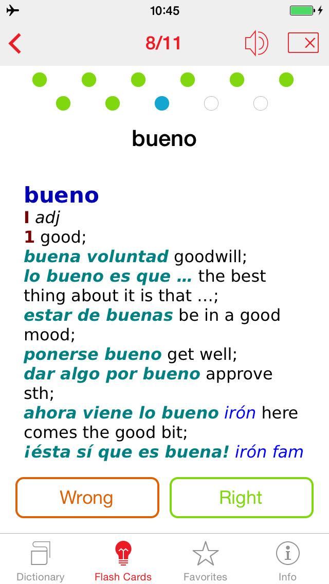 Spanish - English Berlitz Standard Talking Dictionary screenshot 3