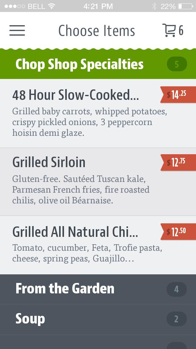 Chop Shop Casual Urban Eatery screenshot 3