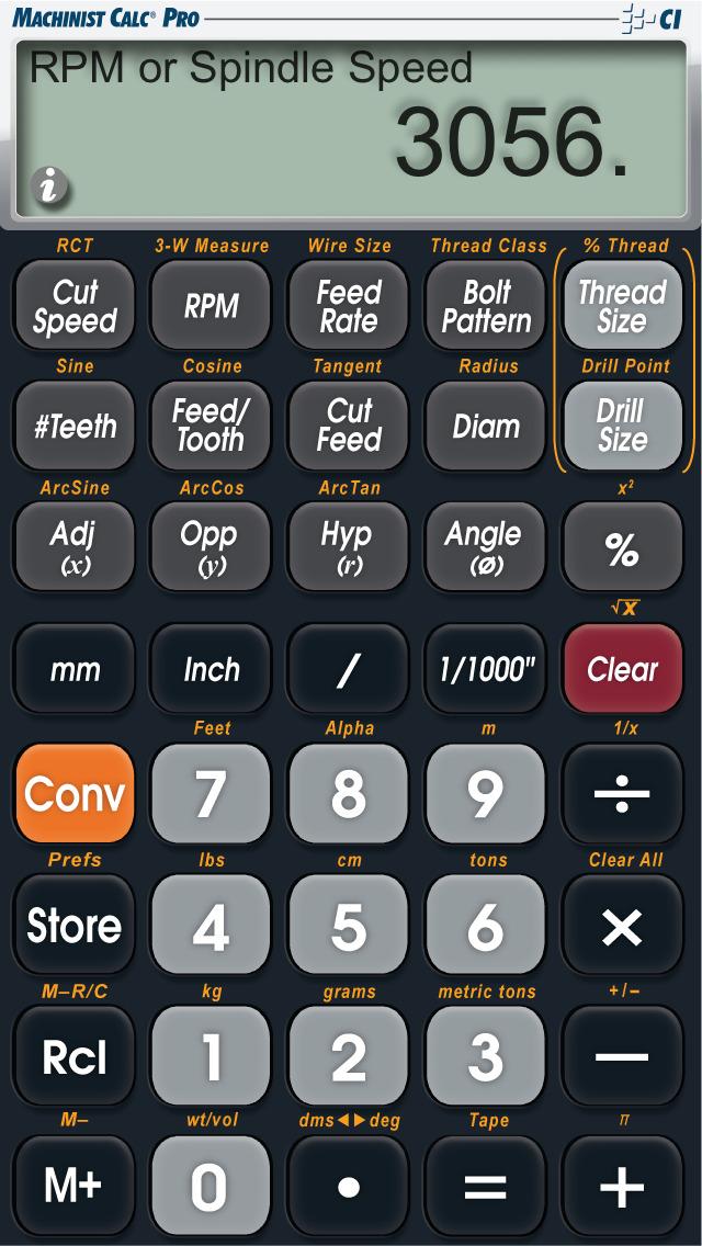 Machinist Calc Pro screenshot 2