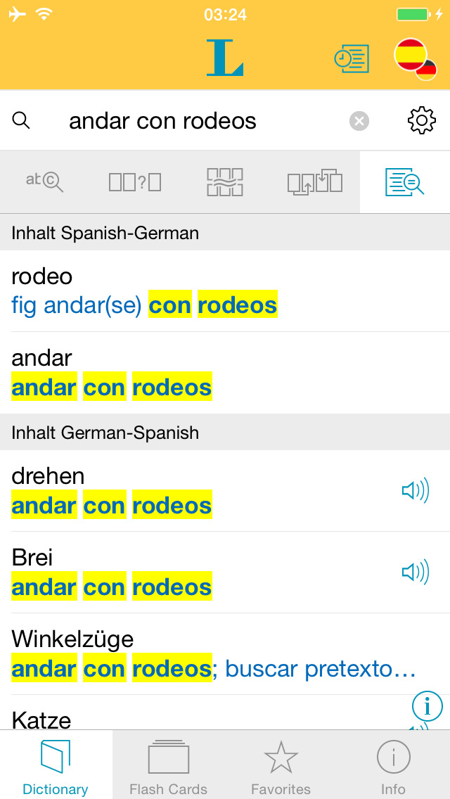German Spanish XL Dictionary screenshot 2