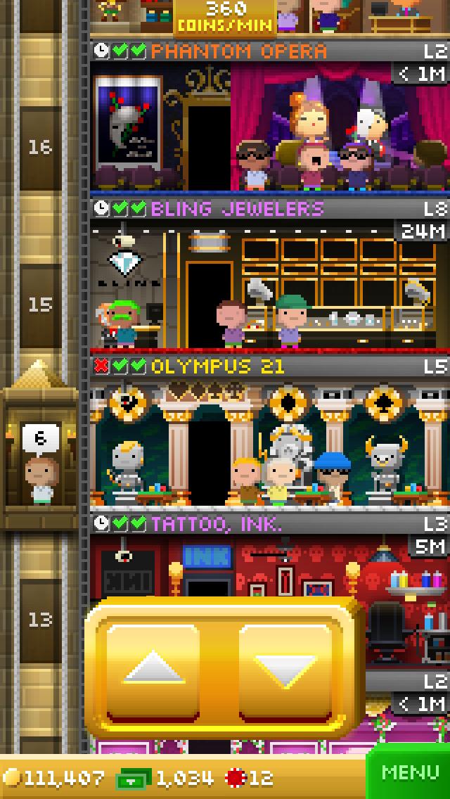 Tiny Tower Vegas screenshot #4