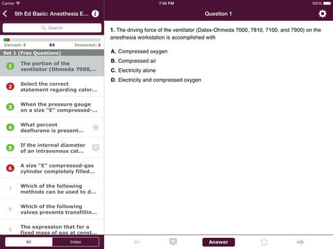 Anesthesia Comprehensive Review screenshot 7