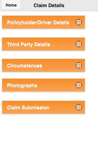 DCL Claims App - náhled
