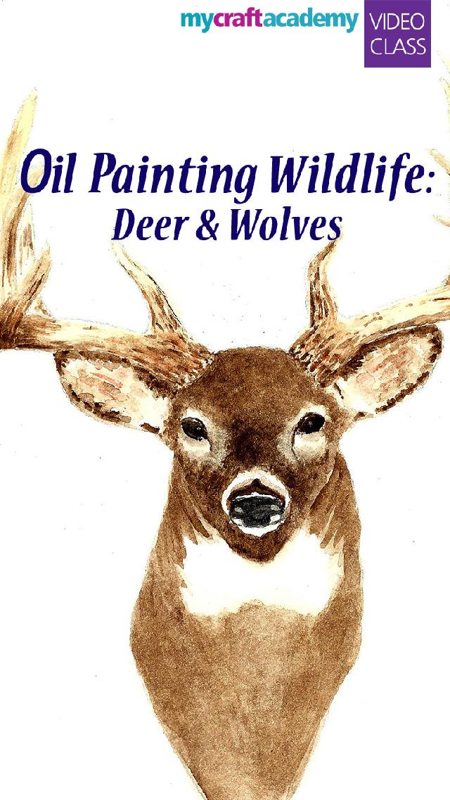 Oil Painting Wildlife: Deer & Wolves screenshot 1