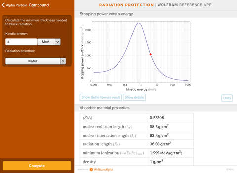 Wolfram Radiation Protection Reference App screenshot 8