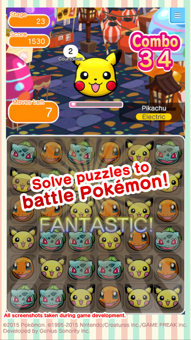 Pokémon Shuffle Mobile screenshot 2