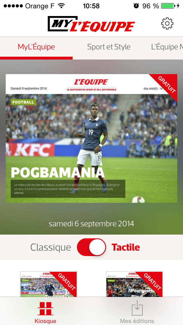 MyL'Équipe - Votre journal, mais en numérique ! screenshot 2