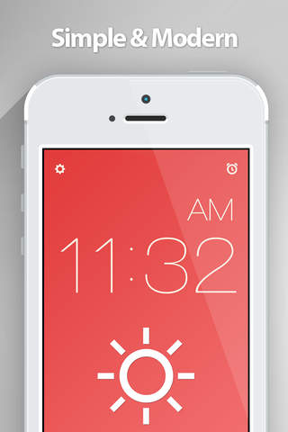 Red Clock FREE Edition - The Minimal Alarm Clock - náhled
