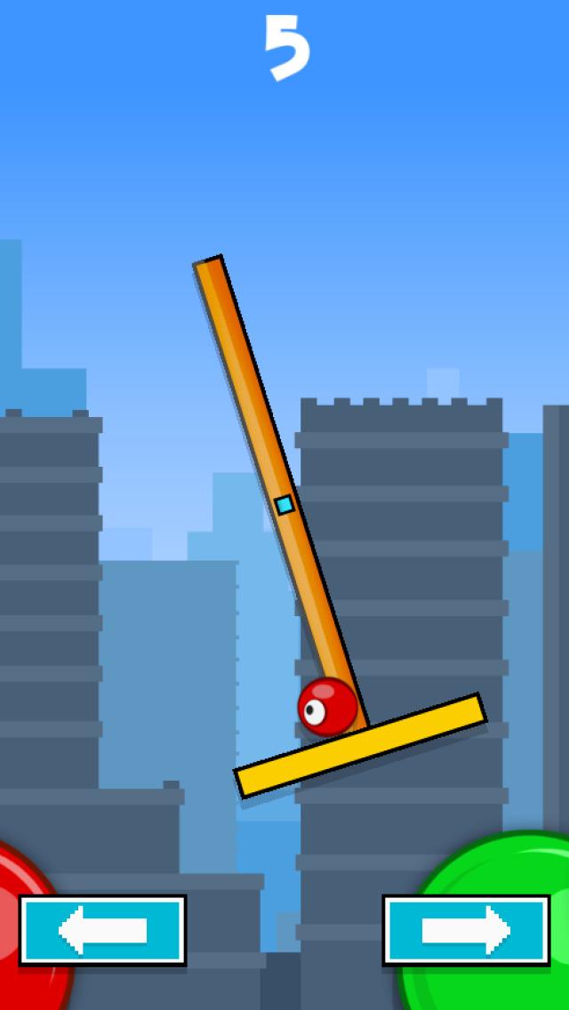 Flick & Swing vs Red Ball FREE screenshot 2