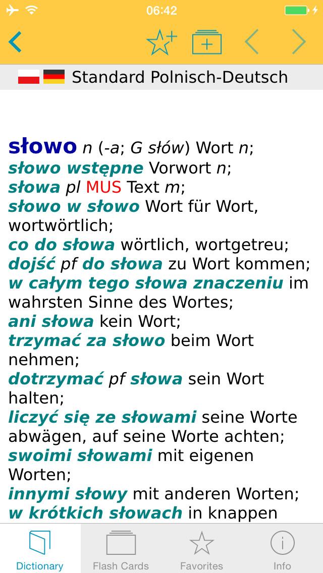 German Polish Dictionary screenshot 1