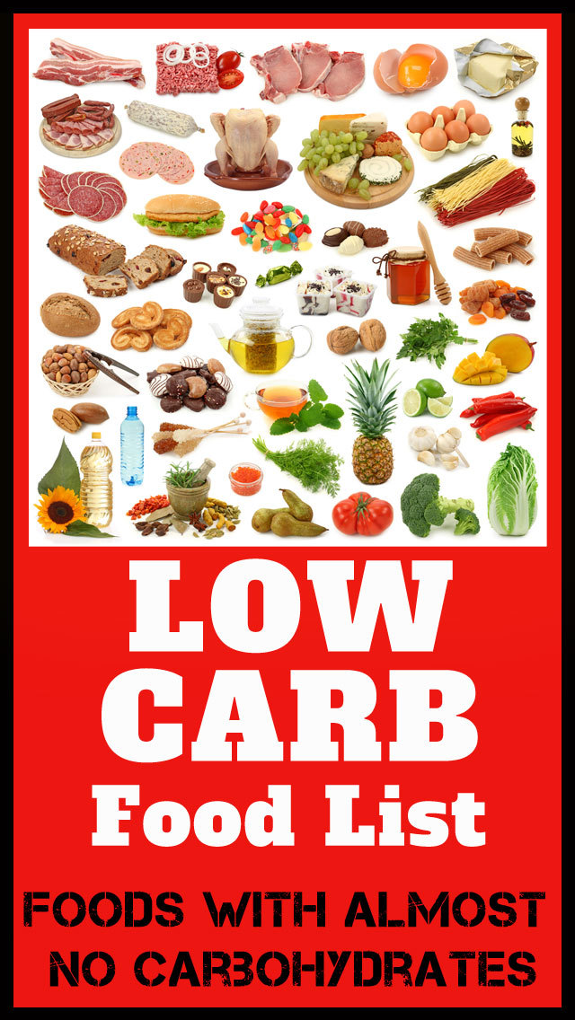 Low Carb Food List - Foods with almost no carbohydrates screenshot 1